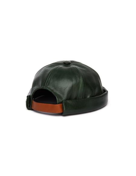 Junya Watanabe Beton Cire Green Leather Beanie Hat