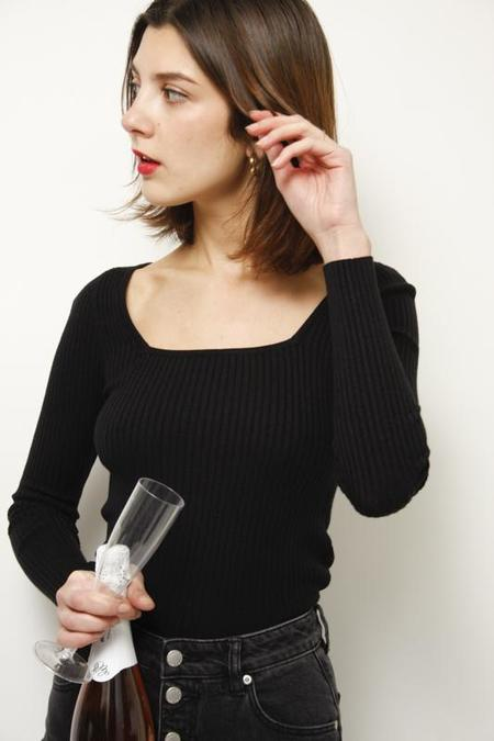 Lucy Paris Marianne Sqaure Neck Sweater