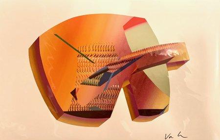 Vanessa Irzyk Art Print - Orange