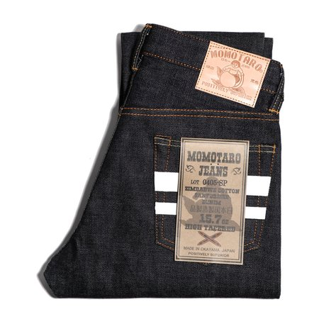 Momotaro Jeans 15.7oz Zimbabwe Cotton Denim High Tapered Jeans