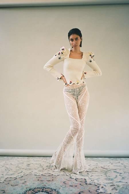 Cormio Oma Sweater - Ivory Chalk