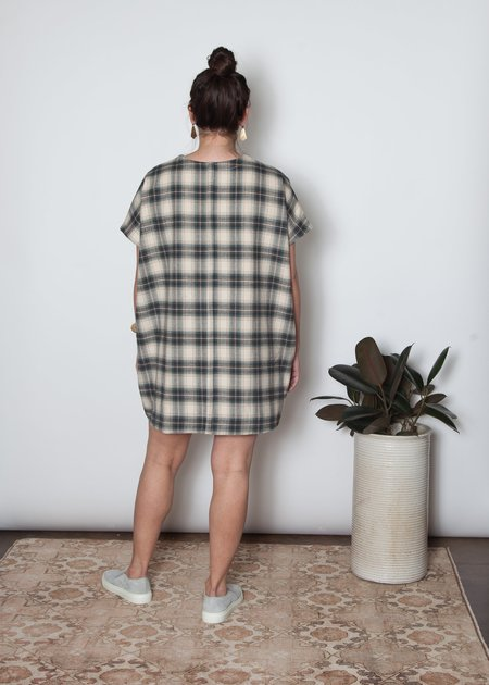 SBJ Austin Indigo Denim Mary Dress - Neutral Flannel
