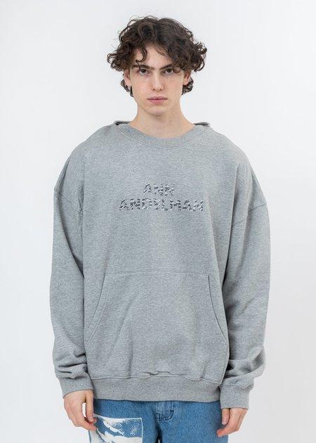 Ann Andelman Logo Two Ways Hoodie - Grey Rhinestone