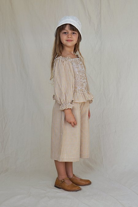 Kids House Of Paloma Matisse Culotte - Ginger Gingham