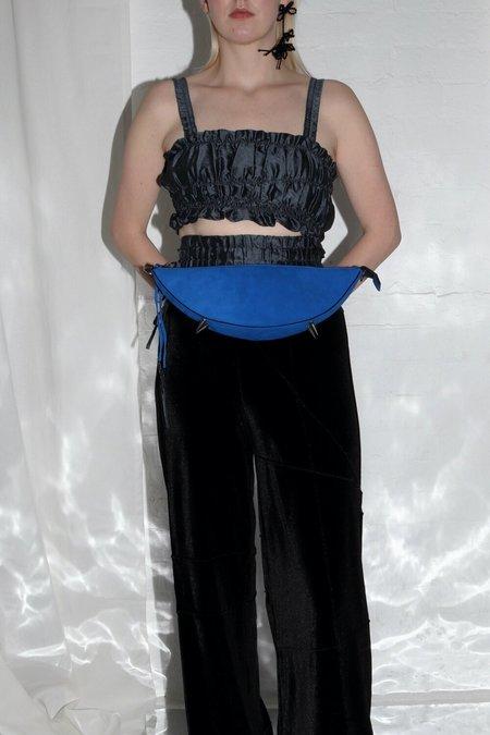 Pre-loved XENAB LONE X ROBERT WUN SUEDE MINI ARC BAG - ELECTRIC BLUE
