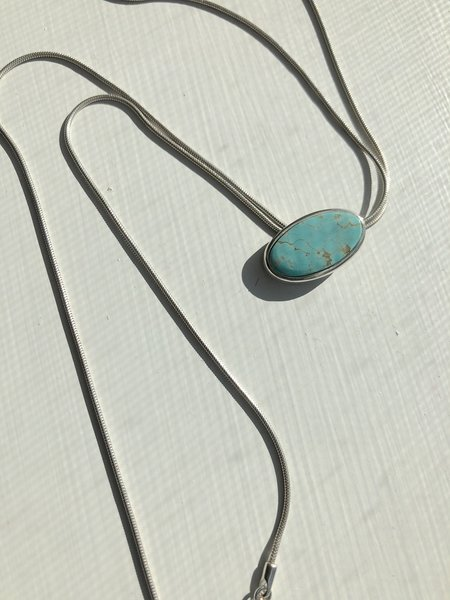 Sarah Safavi Jewelry Turquoise Bolo Tie Necklace - sterling silver