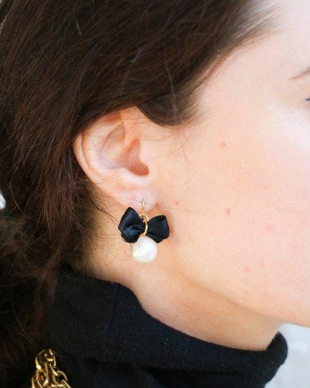 PRE-LOVED Drop Earrings - BLACK