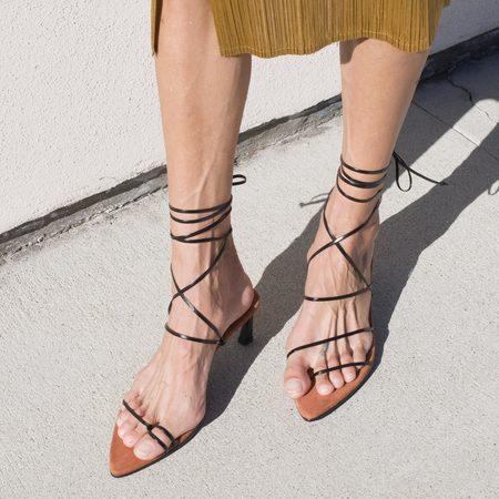Reike Nen Odd Pair Sandals - Black/Rose Pink