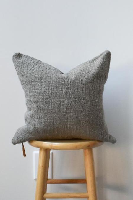 at Dawn. Herb Dyed Pillow Case - Kelp Brown