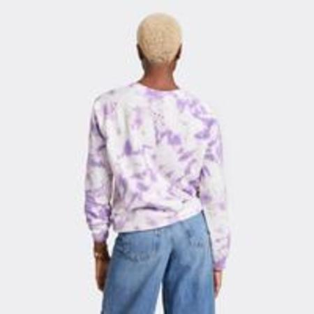 Clare V Cloud Tie Dye Sweatshirt - Violet