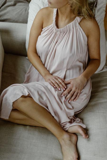 Conrado Chloe Crinkled Cotton Maxi Dress - Pink