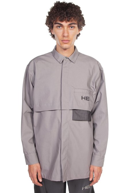 Heliot Emil Oversized Tech Shirt - Grey