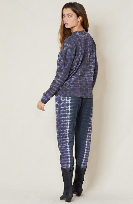 Raquel Allegra Tie Dye Easy Pant - NIGHT ORCHID