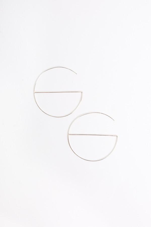 S Tector Metals Medium round hoop with cross bar in gold