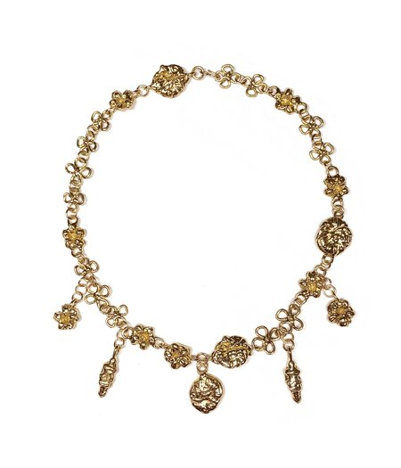 CLARK JEWELRY Earthly Delights Charm Necklace - 18k Gold Vermeil