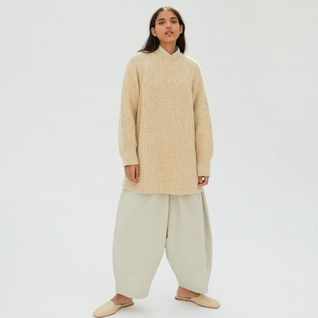 Chunky Soft Wool Sweater - Natural