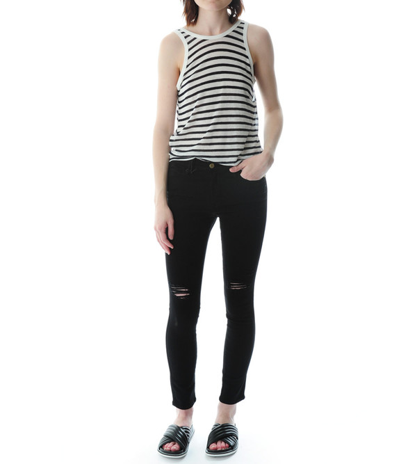 FRAME Denim Le High Skinny - Film Noir