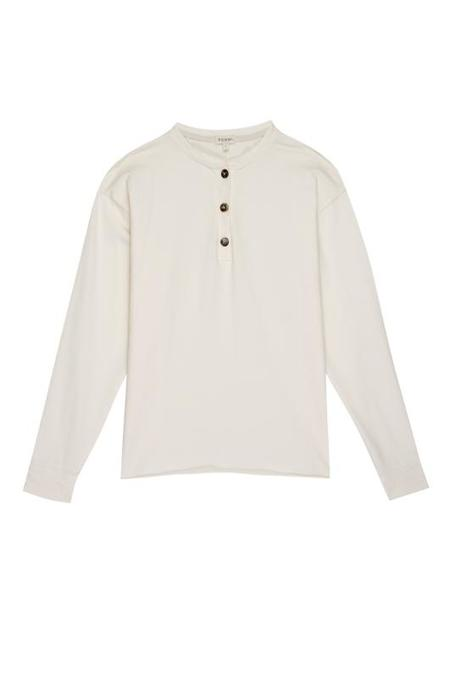 Donni Thermal Henley Long Sleeve Tee - Cream