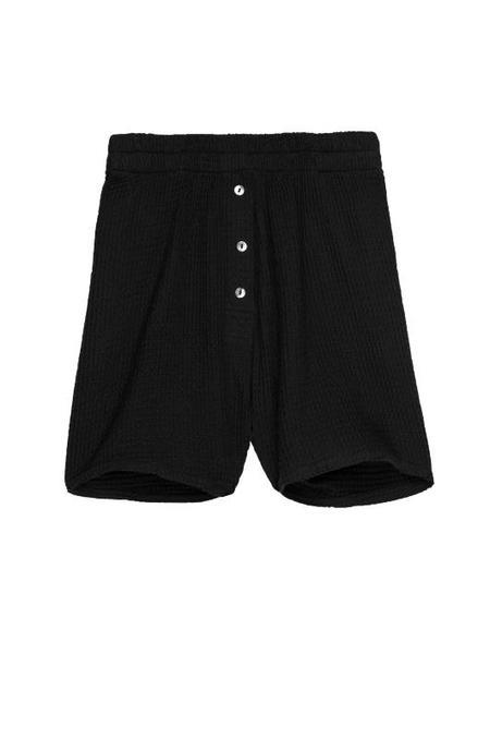 Donni Waffle Shorts - Black