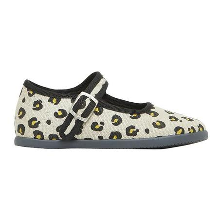 KIDS Bonton Child Jane Leopard Print Shoes - Beige