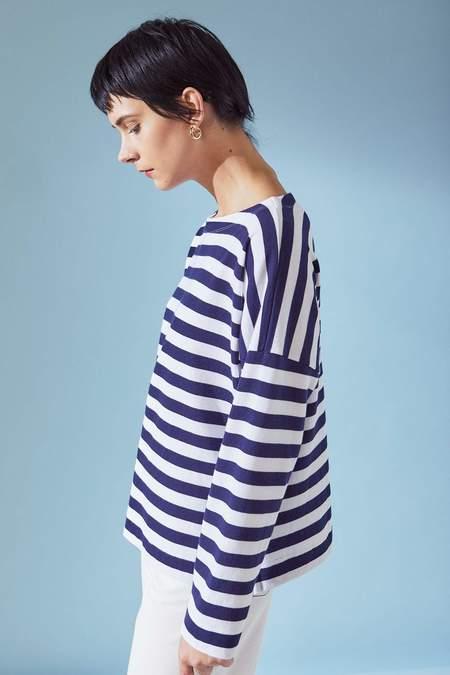 Kowtow Breton Sweater - Wide Stripe