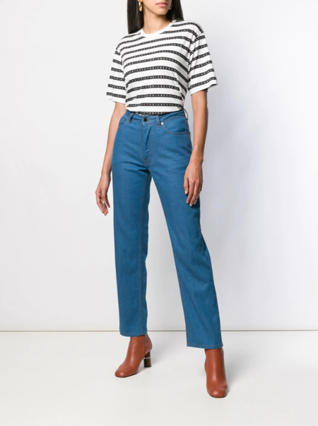 Victoria Beckham Arizona Cropped Jeans - Blue