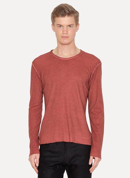 LUMEN ET UMBRA Cotton Wool Silk Long Sleeve T-Shirt - red