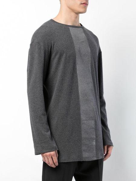 THAMANYAH Long Sleeve Flannel top - Grey