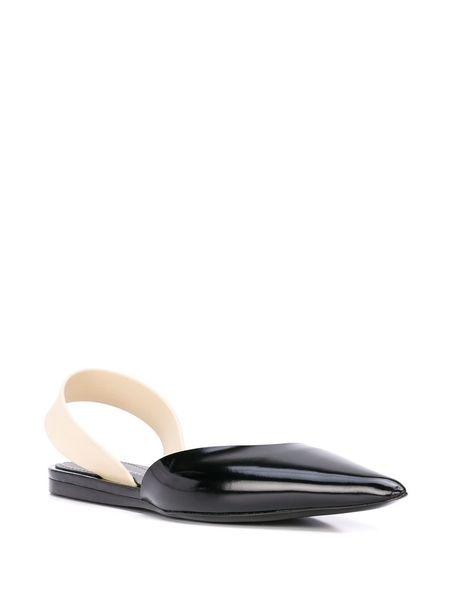 Proenza Schouler Leather Slingback Flat - Black