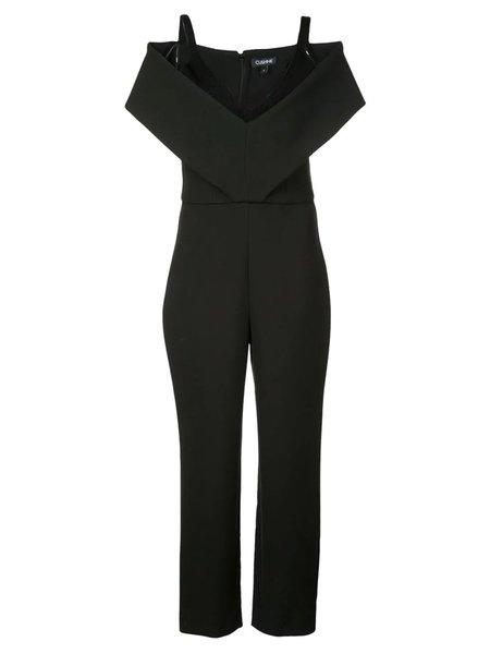 cushnie Off-Shoulder Jumpsuit - Black
