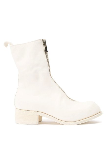 Guidi PL2 Zipped Ankle Boots - White
