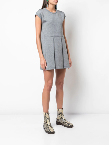 Marni Pleated Skirt Dress - gray