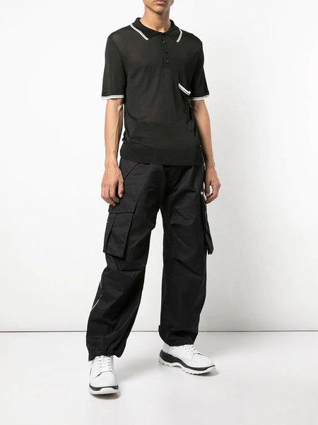 Dsquared2 Ribbed Polo T-Shirt - black