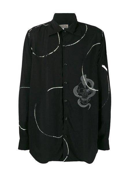 Yohji Yamamoto Skull Cobra Print Shirt - Black