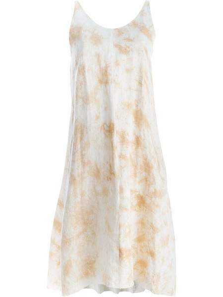 INDIVIDUAL SENTIMENTS Tie Dye Print Tank Dress - Ecru/White