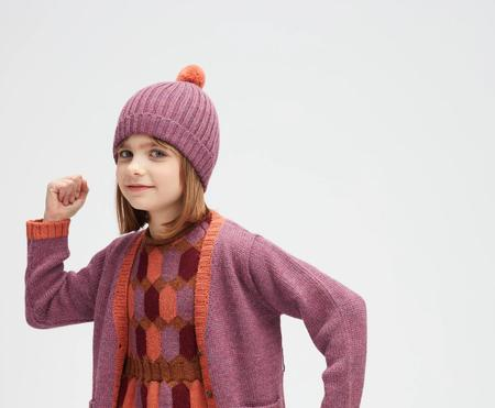 kids Oeuf Knit Pom Pom Hat