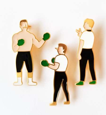 MATTER MATTERS Full Set Boxing Enamel Pins