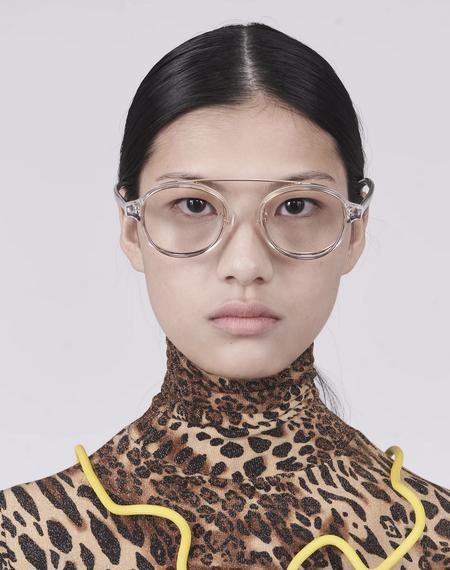 Percy Lau Rotation eyewear - Acetate White/Gold Colour
