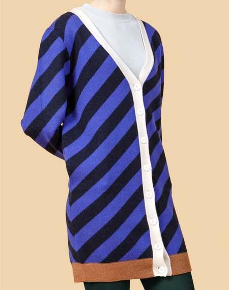 Unisex MATTER MATTERS V Neck Wool Blend Long Cardigan