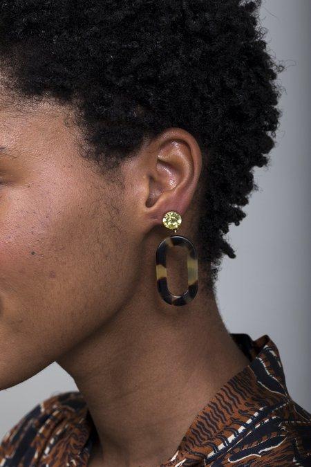 Rachel Comey Celeste Earrings - Olivine Tortoise