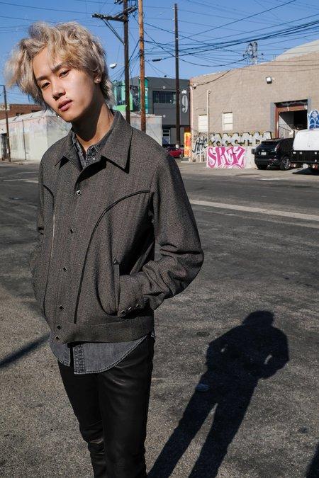 The Letters Glen Check Wool Western Bolero Jacket
