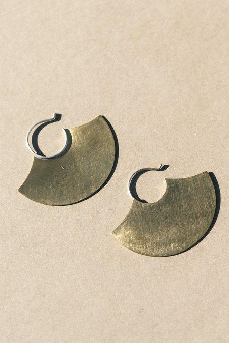 Modern Madini Blade Earrings - Brass