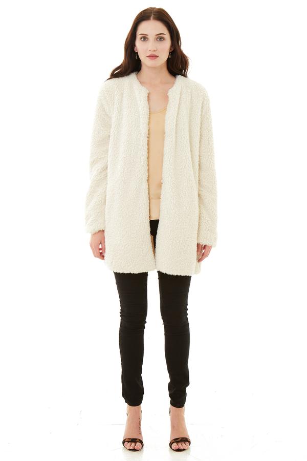 BB Dakota Merrill Wubby Collarless Coat