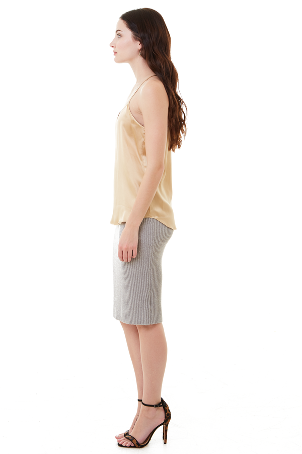 Cupcakes and Cashmere Heather Grey Charleigh Sweater Skirt