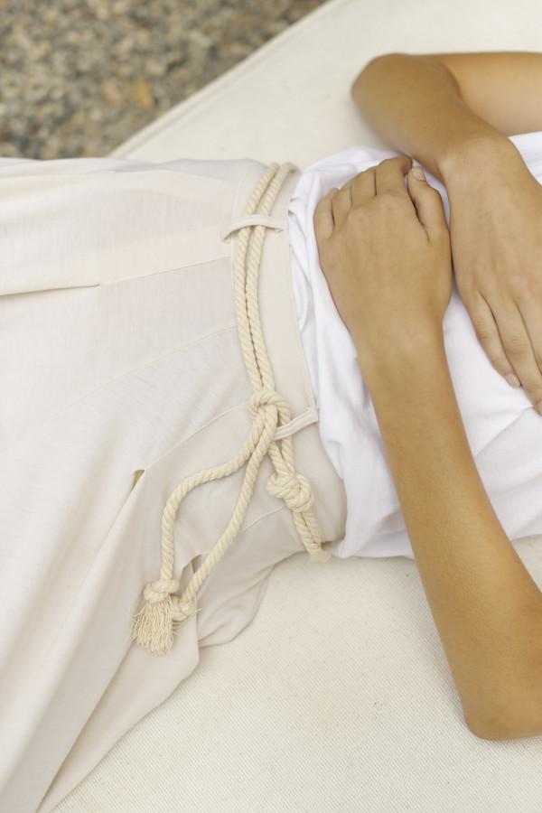 Calder Blake Camilla Pleated Jersey Pant