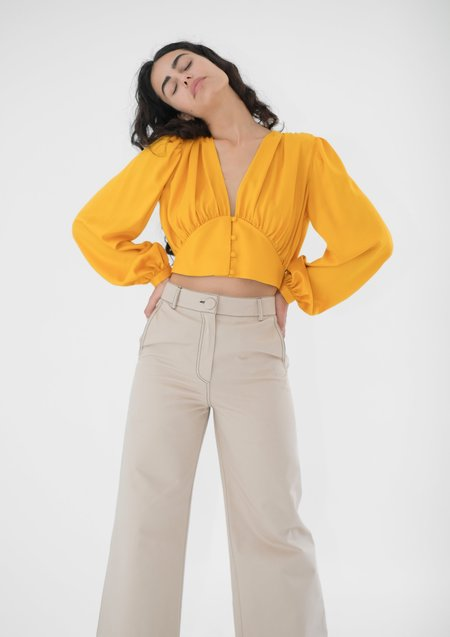 OhSevenDays High Kick Trousers - Beige