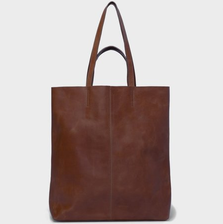 Park Bags Leather 4 straps tote bag - dark brown