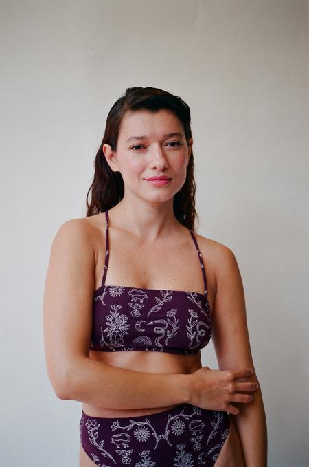 Aniela Parys Zula Ritual Top - purple