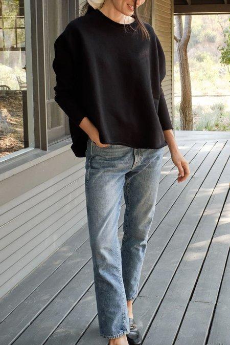 Tee Lab Long Sleeve Capelet top - black
