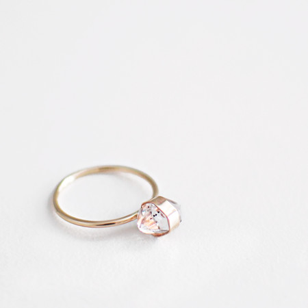 Onata Herkimer Diamond Ring - Gold